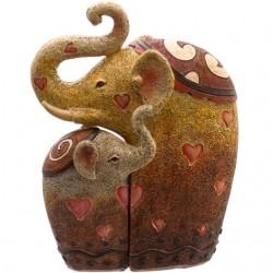 Elephant Family Ornament Statue