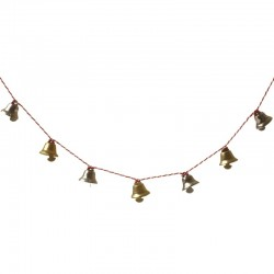 Metal Gold and Silver Bell Garland