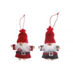 Set of Two Santa Felt Hanging Decorations