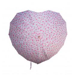 Vintage Floral Heart Shaped Umbrella