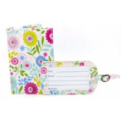 Floral Song Pass Holder and Luggage Tag Set