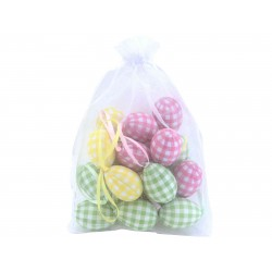 Bag of Pastel Gingham Easter Eggs