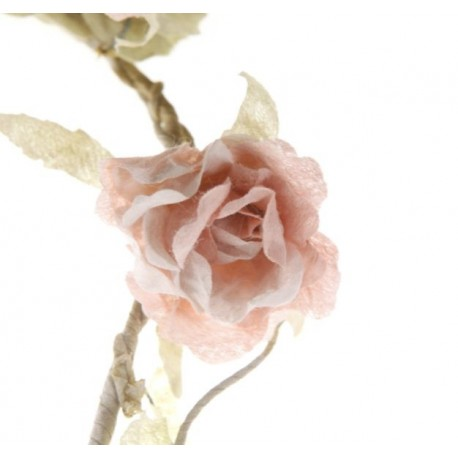 Shabby Chic Rose Flower Garland in Pale Pink