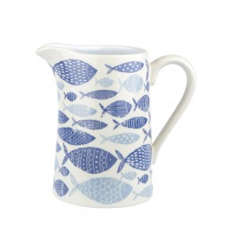 Ceramic Blue Fish Jug