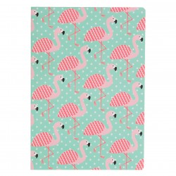 Tropical Summer Flamingo Map A5 Notebook
