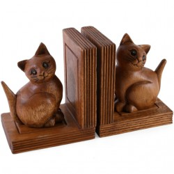 Wooden Owl Bookends