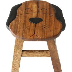Wooden Dog Stool