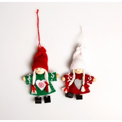 Red & Green Nordic Felt Doll Hanging Decoration
