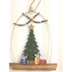 Tree and Presents on Twig Hanger