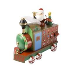 Wooden Christmas Advent Calendar Train