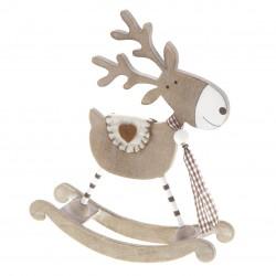 Wooden Rocking Reindeer