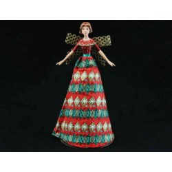 Festive Fabric Tree Top Fairy