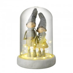 Boy and Girl in LED Dome