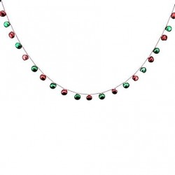 Red and Green Jingle Bell Garland