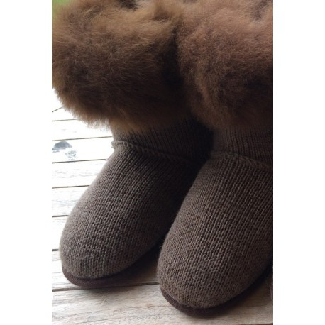 Alpaca Fur Slipper Boots
