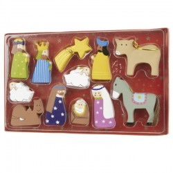 Wooden Hanging Nativity Set