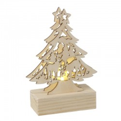 Wooden LED Tree with Deer Scene