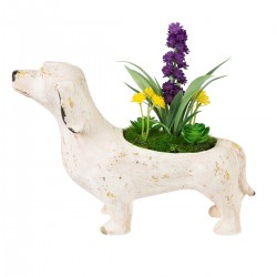 Rustic Dog Decoration with Flowers
