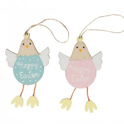 Happy Easter Chick Hanging Decoration