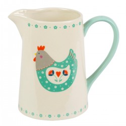 Country Chic Folk Hen Jug