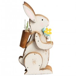 Retro Wooden Easter Bunny Decoration