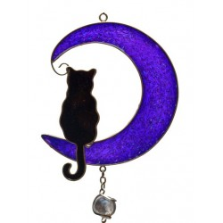 Cat and Moon Windchime