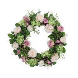 Pink Rose Twig Wreath