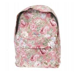Vintage Floral Backpack - Dusky Pink