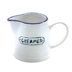 White and Blue Creamer Jug