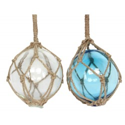 Glass Ball With Rope Hanging Decoration