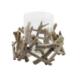 Large Driftwood Candle Holder