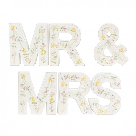 Wildflower Mr & Mrs Letters