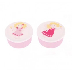 Set of 2 Small Round Fairy Snack Boxes