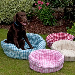 Round Fabric Pet Bed