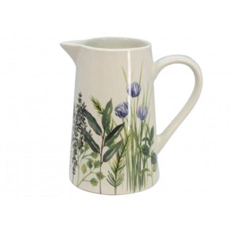 Herbs Design Ceramic Jug