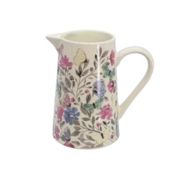 Papillon Design Ceramic Jug