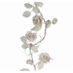 Shabby Chic Rose Flower Garland in Cream