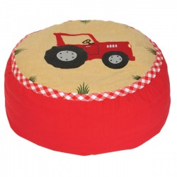 Red Tractor Bean Bag