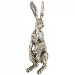 Standing Hare Statue - Champagne Bronze