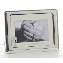 Silver Christening Photo Frame