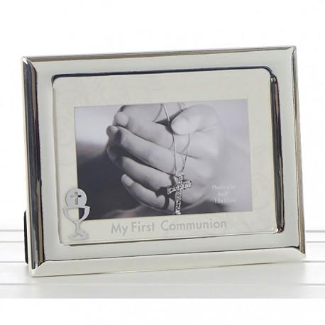 Silver Christening Photo Frame