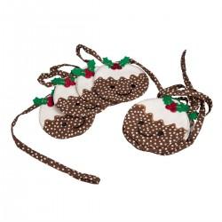 Smiley Christmas Pudding Garland
