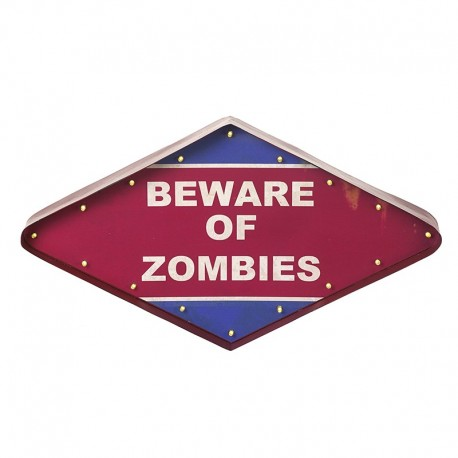 Beware of Zombies LED Sign