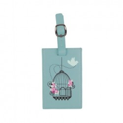 Vintage Birdcage Luggage Tag in Duck Egg Blue