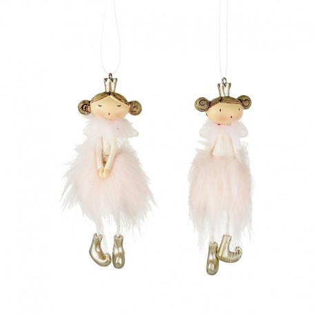 Pair of Pink Fluffy Fairies