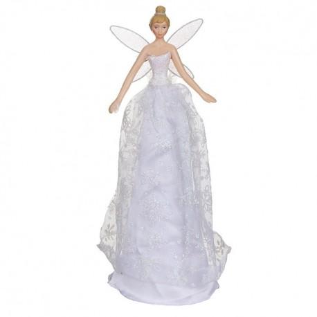 White Glitter Tree Top Fairy
