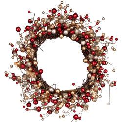 Gold and Red Berry Wreath
