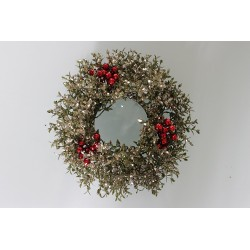 Silver Holly Candle Ring