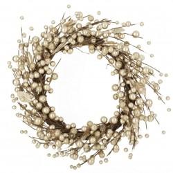 Gold Glitter Berry Wreath