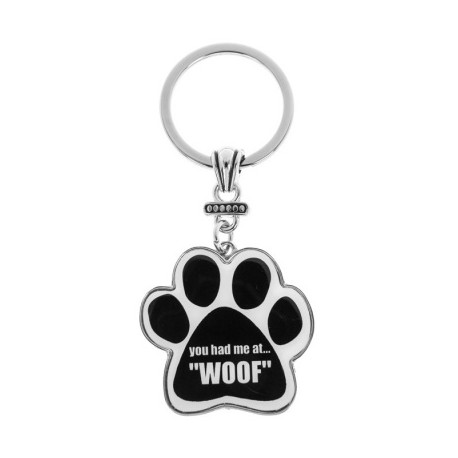 You had me at ... WOOF Keyring